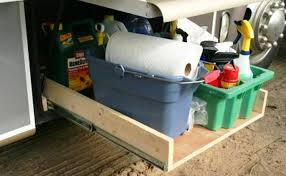 here s another diy tray this time made with heavy duty slideore suited for storing bulky or heavy things that you can t easily tuck away elsewhere