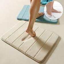 2018 hot salling memory foam bath mats bathroom horizontal stripes rug non slip bath mats 17x24 from laozhao8481 9 11 dhgate com