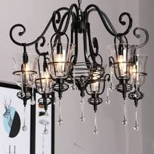 ulasan harga retro wrought iron crystal chandelier iron candle 3 5 6 weapons