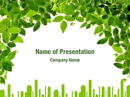 Green Leaves Powerpoint Templates Green Leaves Powerpoint