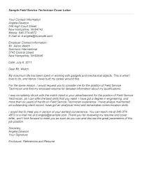 Service Technician Cover Letter Alid Info