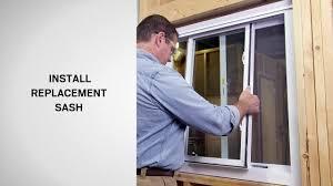 sash replacement american craftsman gliding window