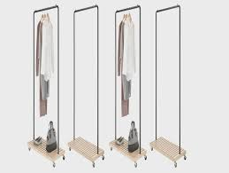 Commercial Coat Racks On Wheels Versare Portable Folding Steel Coat Rack Industrial Strength 82
