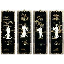 asian wall art black lacquer wall plaques with mother pearl wall sculptures a asian wooden wall on asian wall art uk with asian wall art black lacquer wall plaques with mother pearl wall