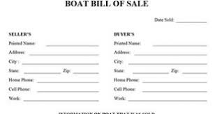 Standard Bill Of Sale For Boat Trailer Bill Of Sale