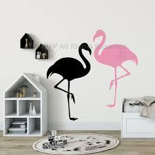 flamingo wall decal nursery wall decals flamingo wall stickers nursery decals tropical
