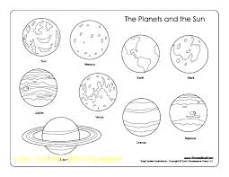 Coloring Solar System The Planets In Solar System Coloring Pages