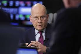 general electric chairman and ceo john flannery is interviewed on the floor of the new york