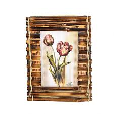 photo frame rusitc wooden bamboo 4x6