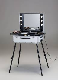 Beauty Station With Lights Vt101c Tr Spacious Make Up Station With Sliding Trays
