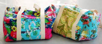 How to Make a Ruffle Duffle Bag | WeAllSew & Ruffle Duffle Bag DIY Adamdwight.com