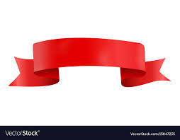 Red Ribbon Design Abstract Red Ribbon Template On White Background