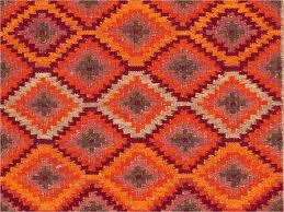 jaipur anatolia izmir flat weave tribal pattern wool orange red area rug