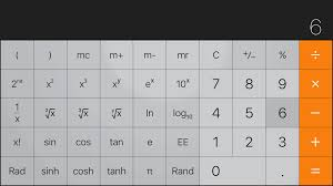 apple calculator exponential notation