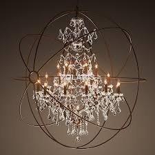 stunning crystal orb chandelier modern vintage orb crystal chandelier lighting rh rustic candle