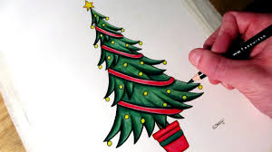 Christmas Tree In Chart Paper How To Draw A Christmas Tree