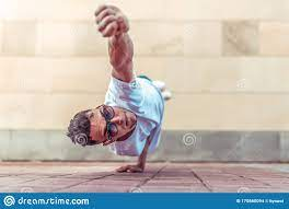 Man In Flight, Stands On One Arm, Superman Pose, Young Guy Dancer, In  Summer In City, Dancing Street Dances, Modern Stock Photo - Image of  breakdance, fashion: 170860094