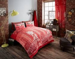 red new york bedding statue of liberty full queen king duvet comforter cover set