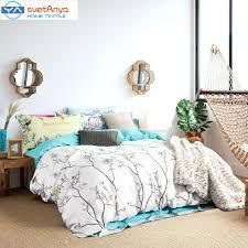 bird duvet covers simple forest trees birds print bedding set sanding cotton queen king size bird duvet covers bird print