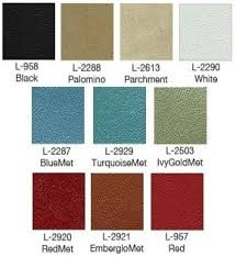 66 Mustang Color Chart 1966 66 Mustang Pony Bucket Seat Upholstery