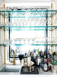 decoration glass shelves kitchen wall units wet bar design ideas with for plan 5