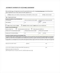 Automatic Withdrawal Form Template Payment Agreement Form Poporon Co