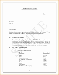 Joining Letter Fo Simple Appointment Letter Format Doc India Fresh