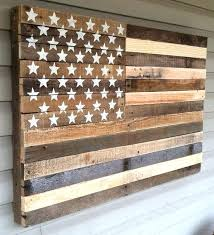 rustic wood american flag pallet flags hanging wall art and flag on pertaining to flag wall