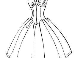 Dresses Coloring Pages Wedding Dress Coloring Pages Lovely Perfect