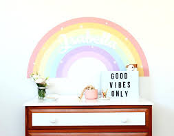 rainbow wall art with own name uk