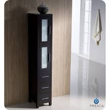 bathroom side cabinets. Amazing Style Fresca Torino 36 Espresso Modern Bathroom Vanity With Side Cabinet Cabinets