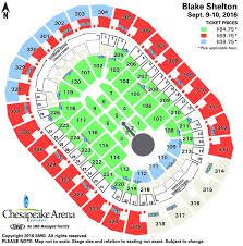Seating Chart Chesapeake Energy Arena Blake Shelton Chesapeake Energy Arena