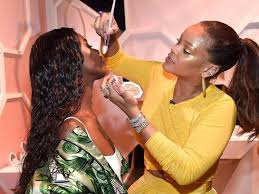 here s how rihanna s new makeup line looks on diffe skin tones