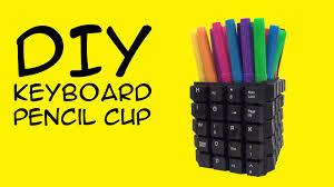 DIY Keyboard Craft: Pencil Cup: (Computer Nerd Fandom) Crafty McFangirl  Tutorial