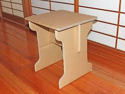 Slot Table Simple Knockdown Cardboard End Table Flat Pack 4 Steps With .