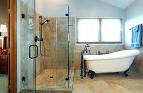 large clawfoot tubs claw foot tub shower enclosures bathroom designs glamorous corner clawfoot tub glass