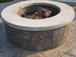 stamped concrete patio with square fire pit. 46 Concrete Fire Pits, Pit Patios, Stamped Patio With  - Mccmatricschool.com Stamped Concrete Patio With Square Fire Pit M