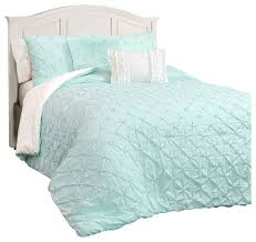 ravello pintuck comforter 4 piece set light aqua twin