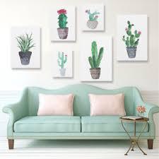 image is loading watercolor canvas cactus painting print picture modern home  on cactus wall art nz with watercolor canvas cactus painting print picture modern home wall art