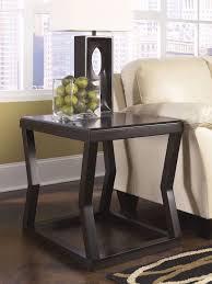 espresso finish rectangular end table