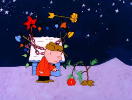Charlie Browns sad Christmas Tree