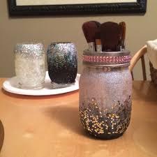 mason jar makeup brush holder. image mason jar makeup brush holder