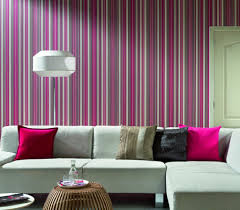 Wallpaper For Small Living Rooms Living Room Striped Colorful Pink Wallpaper In Small Living Room