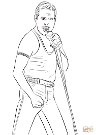 Freddie Mercury Kleurplaat Gratis Kleurplaten Printen