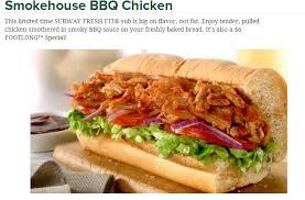 fast food geek smokehouse bbq en returns to subway as april s footlong