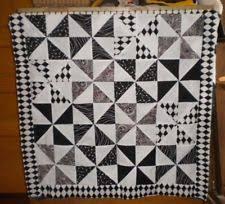 Pinwheel Quilt   eBay & Lap Throw Crib Wall Hanging PINWHEEL Quilt TOP Black White and Red 38 Adamdwight.com