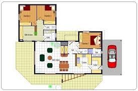 plan maison moderne plain pied