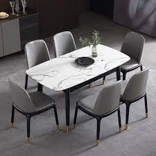 rectangular extendable faux marble