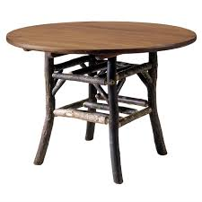 black forest hickory round dining table