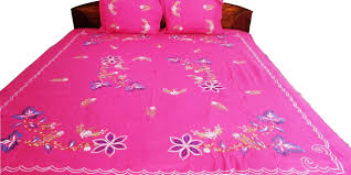 Machine Embroidery Designs For Bed Sheets Buy Floral Embroidery Design Machine Work Cotton Double
